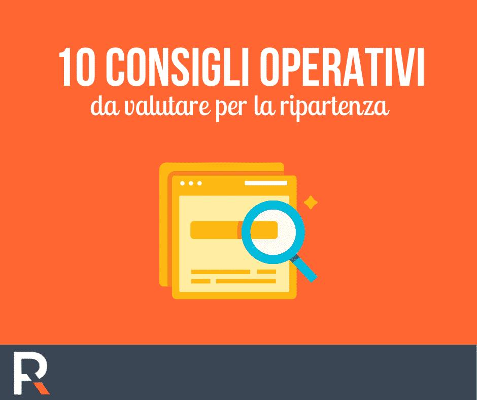 10 aspetti operativi da valutare per la ripartenza - Riccardo Peccianti