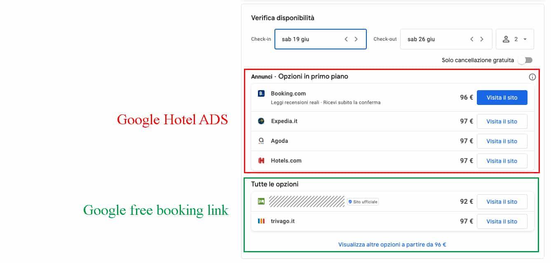 Google free booking link